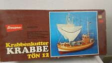 VINTAGE  GRAUPNER MODEL  KIT  KRABBE TON 12 SHIP MODEL  2141     1973 COPYRIGHT