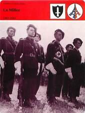 FICHE CARD la Milice 1943-1944 Miliciens Fanion Darnand Vichy Pétain France 90s