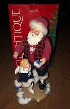 "Possible Dreams Clothtique 12"" Santa Skating Lesson #713227 2000 W Original Box"