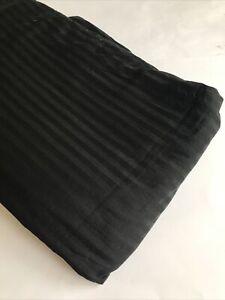 "KING DUVET COVER 100% Cotton Solid Black 84 x 102"" STRIPED Modern"