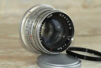 "JUPITER-8 50mm f2 M39 Lens RF made in USSR LEICA red ""P"" +gift adapter m39 /m42"