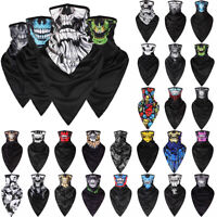 Skull Face Mask Shield Neck Tube Motorcycle Scarf  Wrap Paintball Party Cosplay