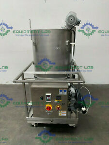 Hyclone 250L SV50172-01 Mixer w/ GTR 4Phase 1/4HP Motor on Rolling Cart