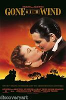 Gone With The Wind 1939 Stretched Movie Poster Canvas Film Art Print Clark Gable