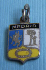 Vintage Madrid Spain shield charm