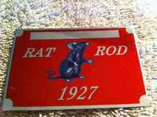 1927 RATROD PLATE chevy ford buick plymouth dodge rat rod info data id plate VIN