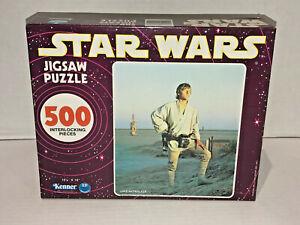 Star Wars Vintage 1977 Kenner 500 Piece Puzzle Luke Skywalker NOS Sealed