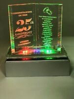 Led Wedding Anniversary Gift 25 Years of Marrage Silver Anniversary Present