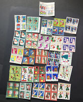 25+ BLOCKS of 4 MNH American Lung Association Christmas SEALS SEE IMAGES 1128