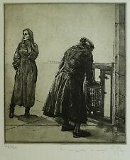 """Welski, Alf (1926-2007) - Radierung """"Zwei Frauen"""" 1977  48/90"""