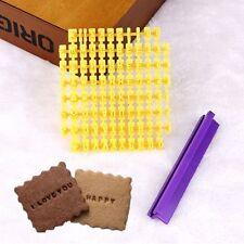 Alphabet Number Letter Cookie Biscuit Stamp Cutter Embosser Cake Mould Tools (50