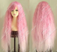 Hot Sell! Popular New Cosplay Long Curly Pink mix Cosplay wig