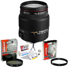 Sigma 18-200mm f/3.5-6.3 II DC OS HSM Lens + UV & CPL Filters & More for Canon