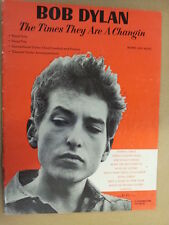 song book BOB DYLAN times they are a changin 1963