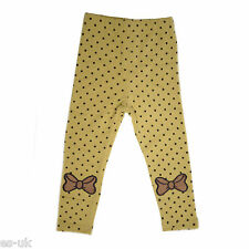 High Quality Polka Dot and Bow Design Winter Leggings Age 1 - 6 years