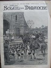 ILLUSTRE SOLEIL DU DIMANCHE 1901 N 44 LA SAINT- HUBERT
