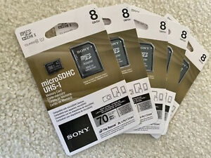 For Kindle Fire or GoPro: 5-pk Sony MicroSDHC UHS-I 8GB (SR8UY2A/TQ)