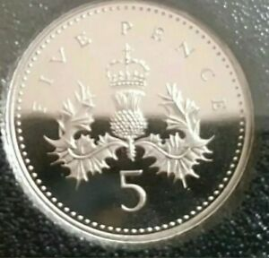 1993  5p Five Pence Coin Brilliant Uncirculated Royal Mint New