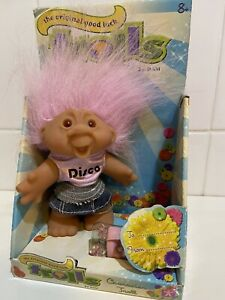 """Original Good Luck Troll Disco Diva Character By Dam 2005 Boxed 5"""" tall"""