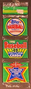 1990 Topps Baseball Rack pack!!!