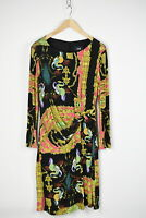 ROBERTO CAVALLI CLASS Women US 12 or ~L* Stretch Coloured Midi L/S Dress 31030-G