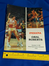 Indiana Hoosiers IU University Program 1980 Basketball Bob Knight Isiah Thomas