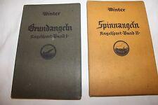 """WINTER """"GRUNDANGELN+SPINNNANGELN""""-ANGELSPORT BAND 1+2 von 1929"""
