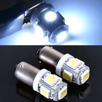 2 x White T11 T4W 53 57 or H6W 3886X BA9S 5050 SMD 5 LED Car Light Bulb Lamp