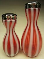 Vintage Fenton Cranberry Opalescent New World Rib Optic S&P 1605CR made 1952-55