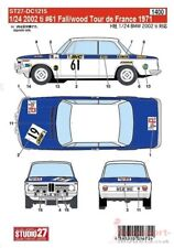 1/24 1971 BMW 2002ti #61 Tour De France DECAL SET por STUDIO 27 para adaptarse Hasegawa