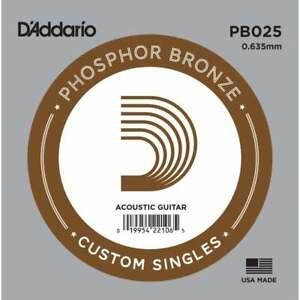 D'Addario Custom Singles: Phosphor Bronze strings for Acoustic Guitar: 020 - 070