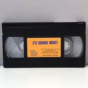VTG Dr. Seuss It's Grinch Night! VHS Video Tape Only 1977 Emmy Award Winner Rare