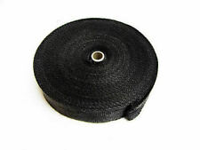 Black Graphite Exhaust Insulating Heat Wrap Tape Exhaust Downpipe - 30M - 98Ft