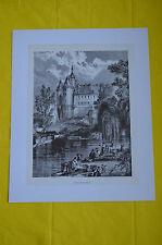 Reproduction de gravure Chateau de Beaupréau