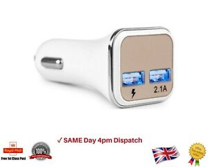 2.1A USB Auto in Car Charger Dual 2 Port Adapter With Led