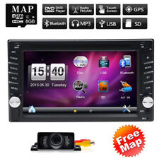 "Double Din 6.2"" Car Radio Stereo DVD Player GPS Navigator Touchscreen BT+Camera"