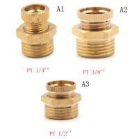 Air Compressor Male Threaded Water Drain Valve Brass Tone PT 1/2'' 3/8'' 1/4DAD
