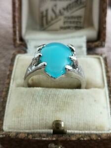 Beautiful Turquoise Silver Plated Ring