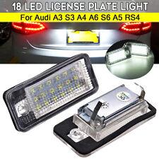 Paire LED Feux Eclairage Plaque Xenon pour Audi A3 S3 A4 B6 B7 A6 S6 A8 RS4 S8