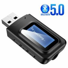 Bluetooth 5.0 Audio Receiver Transmitter USB Wireless Adapter for TV Car PC