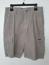 New Quiksilver Youth Boys Denim Shorts 26/12 Corduroy Sand Beach Walking Jeans