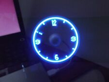 USB Desk Fan With Messages I Love You, Have A Nice Day, Clock, Walking Dogs