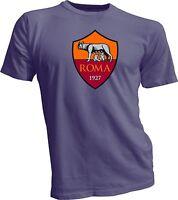 A.S. Roma  Giallorossi Italy Italia Serie A Football Soccer T-Shirt NEW Gray