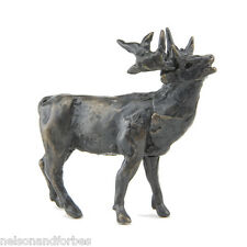 """Solid Bronze Sculpture """"Stag Maquette"""" by Jonathan Sanders - Nelson & Forbes"""