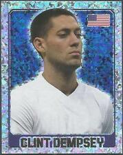 TOPPS ENGLAND 2014- #331-UNITED STATES-USA-CLINT DEMPSEY-SILVER FOIL
