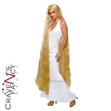 """Vestido de Lujo Lady Godiva Peluca Rubia 60"""" 5 pies de largo Rapunzel Enredados de Accesorios Nuevo"""