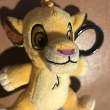 DISNEY PARKS Lion King Baby Simba Plush Clip (Backpack Bag Attachment Keychain)