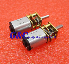 DC 12V 300RPM Micro Speed Reduction Gear Motor with Metal Gearbox Wheel Shaft