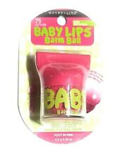 Maybelline Baby Lips Balm Ball 75 - Pout In Pink NEW 0.16 oz with Vitamin E