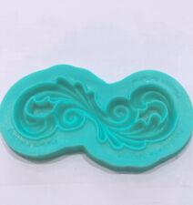 Vintage Scrolls Silicone Fondant Mould Cake Lace Flower Border #1